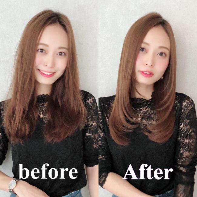 髪質改善トリートメントBefore→After